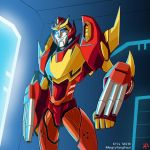 angryfangface Rodimus by TheButterfly