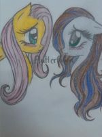 FLUTTERSHY AND FAWN by Nek0-Butt