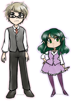 Fox and Aster Chibis by kabocha