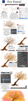 Tree Tutorial - Photoshop CC by Denakari