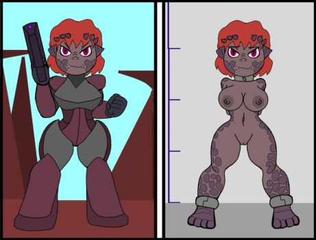 Krezzen female before and after capture. by Nidrog