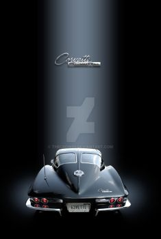 63 Vette poster I by theCrow65