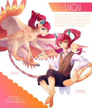 character reference: luqu by clockbirds