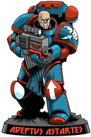 Space Marine Avatar by KurtMetz