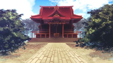 Japanese shrine by carlmary