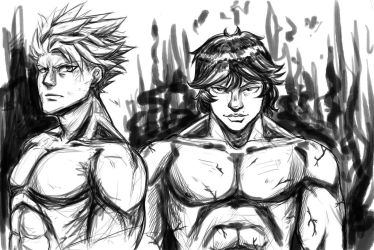 BAN and BAKI by MORUKO01