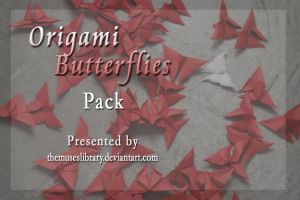 Origami Butterflies PACK by themuseslibrary