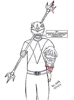 Blue Ranger Is Not Amused. by AkiraTheFighter24