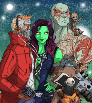 Guardians of the galaxy  by TomatoStyles