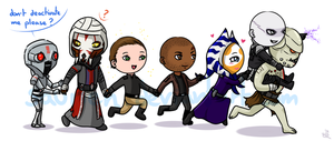 ToR - Sith Inquisitor and friends by saurien