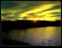 Sunset On The Lake by surrealistic-gloom