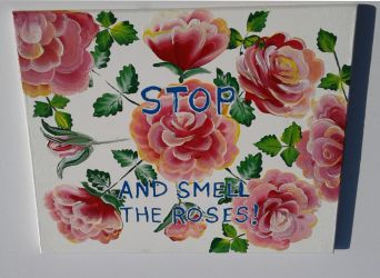 My Second Stop and Smell The Roses Sign by sweetpie2