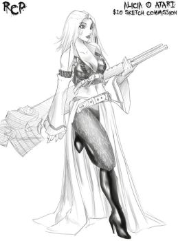 $10-Alicia the Bullet Witch by Robaato