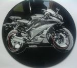 Yamaha bike on vinyl record by vantidus