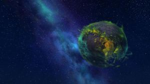 Argus - planet of the Legion (view from Azeroth) by Lafiriel