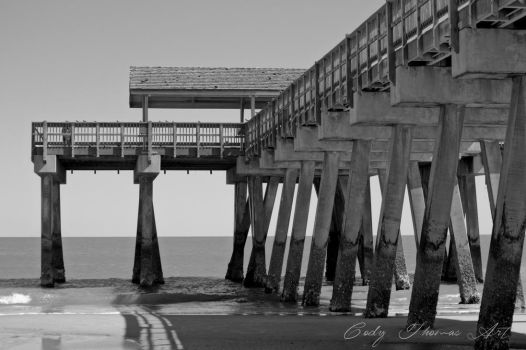 Tybee Pier: Black and White by GlennThomasi6