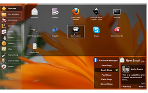 Netbook Messages UI by doctormo