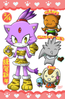 :Sonic: 1 Tiger 4 chibis by sunowi0421