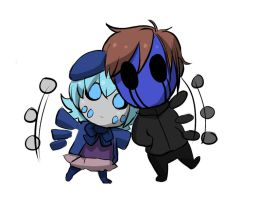 Oh Hi there [Eyeles Jack and Ani the Wight] by CrepePaste