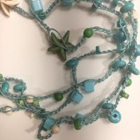 In The Ocean Crocheted Necklace by MindfullyArtistic