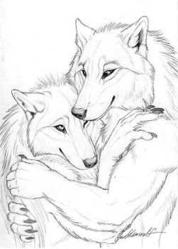 Cuddly Couples -  Wolves01 by Goldenwolf