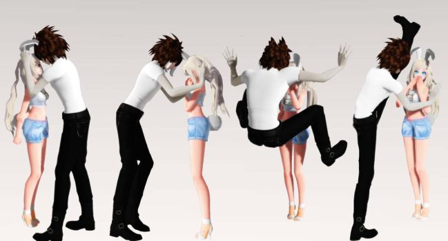 [MMD Pose DL] Kabedon Pose Pack Download! Part I by AimeeSa