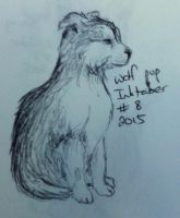 Intober 8 - Wolf pup by sarahyt