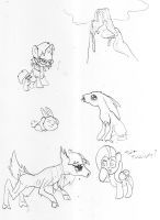 sketch MLP nightmare, mountains of sadness by toongrowner