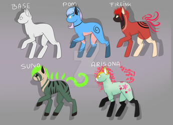 Pony Adoptables! OPEN by NemuTheNymphet