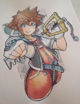 Sora- Kingdom Hearts by PandaBear3000