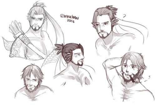 Doodles Hanzo and Mccree by XanChan