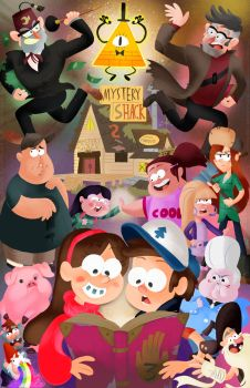 Gravity Falls by geeksnextdoor