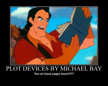 Gaston Reads Michael Bay's Plot Devices by SpenceOlson