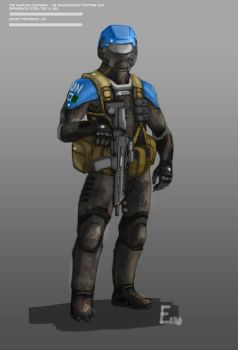 The Martian Campaign: UN Fighting Suit by Ranfield
