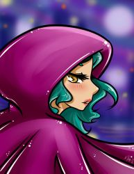 Girl wearing a purple cape by NenaLuna