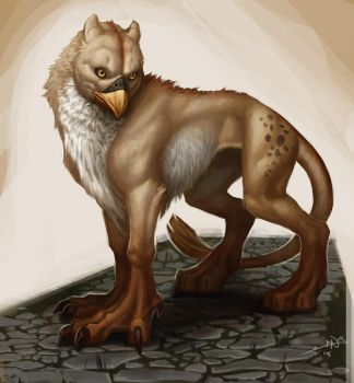 wingless griffin. by Notesz
