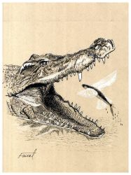 Crocodile vs Exocoetidae by fizz1173