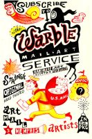 Warble Mail Art Flyer Two by hyronomous