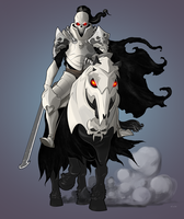 CURSED HORSEMAN   COMMISSION by Pino44io