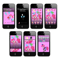 Pinkie Pie iPhone and iTouch Theme by FozzyWig