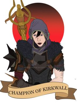 Champion of Kirkwall by Hedderdraw