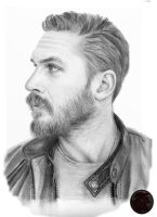 Tom Hardy portrait by Saxa-XCII