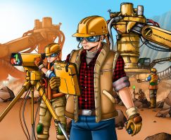 Off World Mining Operation by Artraccoon
