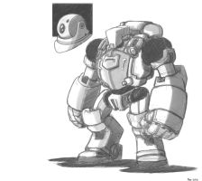 Mech Sketch by MoeAlmighty