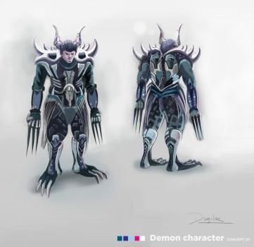 demon character design by ducphamduy