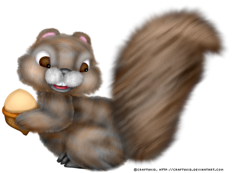 Squirrel with Acorn by Craftykid