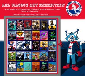 AHL MAX Mascot Collage (Updated) by PolarWildcatStudios