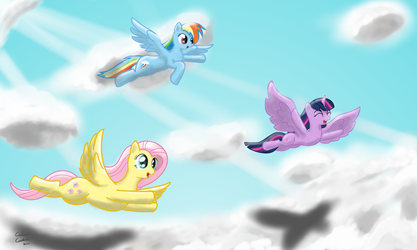 Flying Buddies by ColorCoatedArt