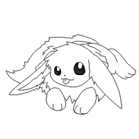 eevee lineart 8 by michy123