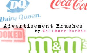 Advertisement Brushes by killburnbarbie